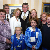 Jim Weir Testimonial...11.04.05<br />Jim with family.<br /><br />Picture by Graeme Hart.<br />Copyright Perthshire Picture Agency<br />Tel: 01738 623350  Mobile: 07990 594431