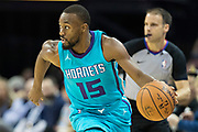 MEMPHIS, TN - OCTOBER 30:  Kemba Walker #15 of the Charlotte Hornets drives down the court during a game against the Memphis Grizzlies at the FedEx Forum on October 30, 2017 in Memphis, Tennessee.  NOTE TO USER: User expressly acknowledges and agrees that, by downloading and or using this photograph, User is consenting to the terms and conditions of the Getty Images License Agreement.  The Hornets defeated the Grizzlies 104-99.  (Photo by Wesley Hitt/Getty Images) *** Local Caption *** Kemba Walker