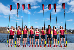 The Rutgers Scarlet Knights rowing team photo at the 1812 Boathouse in New Brunswick, NJ on Sunday February 27, 2017.<br /> (Ben Solomon/Rutgers Athletics)