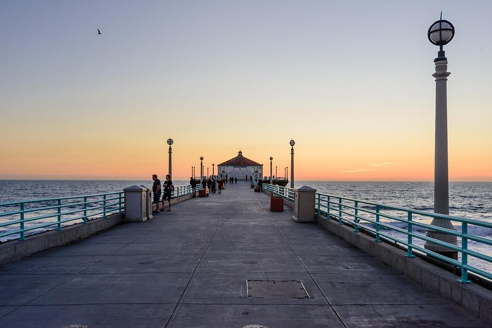 Manhattan Beach, an affluent coastal city in Los Angeles County, California