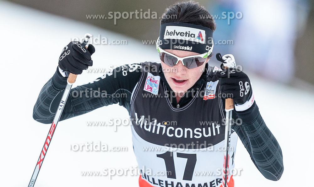 05.12.2015, Nordic Arena, NOR, FIS Weltcup Langlauf, Lillehammer, Damen, im Bild Nathalie von Siebenthal (SUI) // Nathalie von Siebenthal of Switzerland during Ladies Cross Country Competition of FIS Cross Country World Cup at the Nordic Arena, Lillehammer, Norway on 2015/12/05. EXPA Pictures © 2015, PhotoCredit: EXPA/ JFK