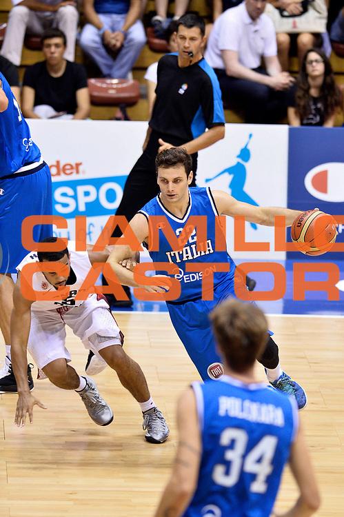 DESCRIZIONE : Trieste Nazionale Italia Uomini Torneo internazionale Italia Canada Italy Canada<br /> GIOCATORE : Stefano Gentile<br /> CATEGORIA : Palleggio<br /> SQUADRA : Italia Italy<br /> EVENTO : Torneo Internazionale Trieste<br /> GARA : Italia Canada Italy Canada<br /> DATA : 03/08/2014<br /> SPORT : Pallacanestro<br /> AUTORE : Agenzia Ciamillo-Castoria/GiulioCiamillo<br /> Galleria : FIP Nazionali 2014<br /> Fotonotizia : Trieste Nazionale Italia Uomini Torneo internazionale Italia Canada Italy Canada