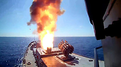 May 31, 2017 - Russia - May 31, 2017. - The Admiral Essen frigate and the Krasnodar submarine have fired four Kalibr missiles at the facilities of the Islamic State terror group (outlawed in Russia) located near the city of Palmyra. Photo: Russian Defense Ministry's press service. (Credit Image: © Russian Look via ZUMA Wire)