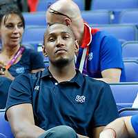 09 August 2012: Team France player Boris Diaw is seen watching the game during 81-64 Team France victory over Team Russia, during the women's basketball semi-finals, at the 02 Arena, in London, Great Britain.