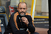 Wolverhampton Wanderers manager Nuno Espirito Santo during the EFL Sky Bet Championship match between Wolverhampton Wanderers and Cardiff City at Molineux, Wolverhampton, England on 19 August 2017. Photo by Alan Franklin.