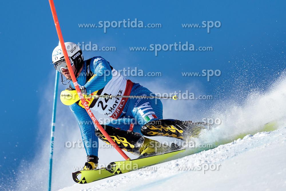 19.02.2017, St. Moritz, SUI, FIS Weltmeisterschaften Ski Alpin, St. Moritz 2017, Slalom, Herren, 1. Lauf, im Bild Giuliano Razzoli (ITA) // Giuliano Razzoli of Italy in action during his 1st run of men's Slalom of the FIS Ski World Championships 2017. St. Moritz, Switzerland on 2017/02/19. EXPA Pictures © 2017, PhotoCredit: EXPA/ Johann Groder