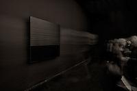 """LYON, FRANCE - NOVEMBER 02: Soulages, 21th century..Exhibition dedicated to the french painter Pierre Soulages, .pictured in Lyon, France on November 01, 2012...You must have all the necessary authorizations from the """"Musee des Beaux Arts"""" in Lyon before to use one or more of these images. 33 ??(0) 4.72.10.17.40.Vous devez demander les autorisations nécessaires auprès du Musée des Beaux Arts de Lyon avant de pouvoir utiliser une ou plusieurs de ces images."""