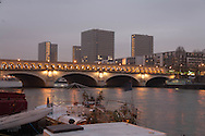 France. Paris. Seine river bridges. bercy bridge on the seine river