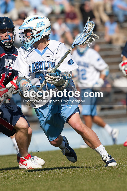 07 February 2009: North Carolina Tar Heels attackman Thomas Wood (36) during a 16-4 win over Robert Morris on Fetzer Field in Chapel Hill, NC.