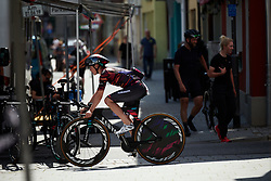 Tiffany Cromwell (AUS) prepares for Lotto Thüringen Ladies Tour 2019 - Stage 5, a 17.9 km individual time trial in Meiningen, Germany on June 1, 2019. Photo by Sean Robinson/velofocus.com