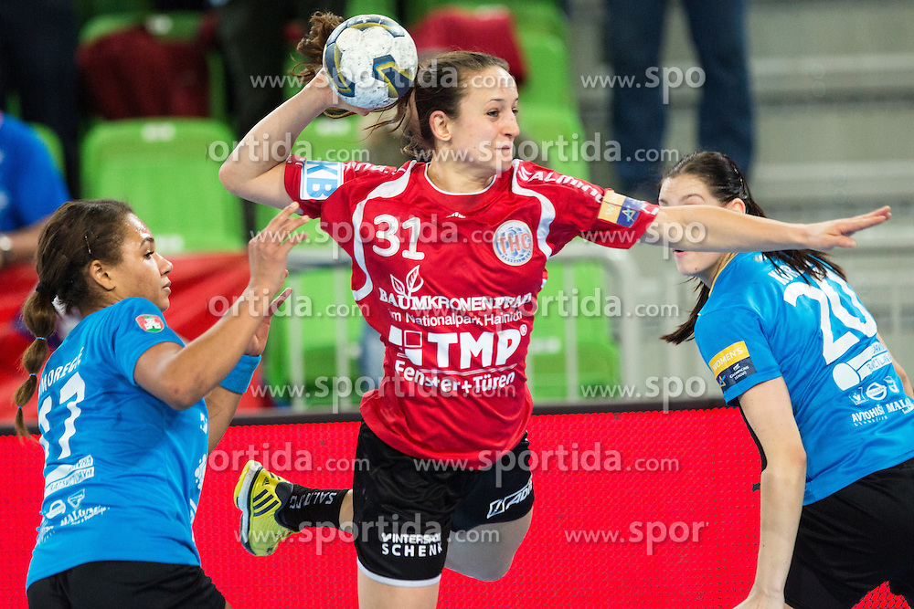Kerstin Wohlbold of Thüringer HC during handball match between RK Krim Mercator (SLO) and Thüringer HC (GER) in 6th Round of Women's EHF Champions League 2014/15, on January 31, 2015 in Arena Stozice, Ljubljana, Slovenia. Photo by Matic Klansek Velej / Sportida