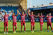 Ipswich Town players show their support for the fans after the EFL Sky Bet League 1 match between Gillingham and Ipswich Town at the MEMS Priestfield Stadium, Gillingham, England on 21 September 2019.