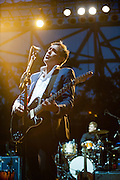 Nick Urata of DeVotchKa performs at Bunbury Music Festival at Yeatman's Cove in Cincinnati, Ohio on July 12, 2013.