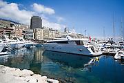 May 20-24, 2015: Monaco Grand Prix - Yacht in the Monaco harbor.