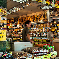 Asian grocery shop in Chinatown, New York City