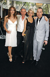 Left to right, LIZ HURLEY, PATRICK COX, DONNA AIR and DAVID FURNISH at the 2006 Glamour Women of the Year Awards 2006 held in Berkeley Square Gardens, London W1 on 6th June 2006.<br />
