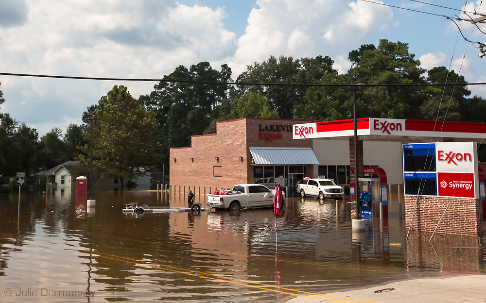 Sept 1, 2017, flooded Mobile gas station in Vidor, Texas. Hurricane Harvey, was downgraded to a tropical storm when it flooded Vidor, Texas and the surrounding area.