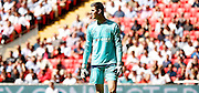 Thiabut Courtois watching the action during the FA Community Shield match between Chelsea and Arsenal at Wembley Stadium, London, England on 2 August 2015. Photo by Michael Hulf.