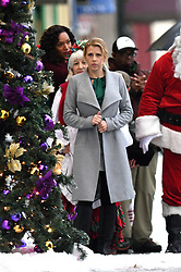 EXCLUSIVE: Full House actress Jodie Sweetin films a Christmas Movie in Vancouver, Canada. The actress recently returned to the sequel Fuller House and is now returning to film as she stars in Finding Santa, a Hallmark made for TV movie which is filmed in Vancouver, Canada. Jodie was seen on set filming scenes with a Santa Claus and Mrs. Santa Claus walking behind her before slipping they slip on ice. Jodie wrapped up in a green jacket with a furry hood and was seen chatting on her phone during the days filming. 13 Oct 2017 Pictured: Jodie Sweetin. Photo credit: Atlantic Images/MEGA TheMegaAgency.com +1 888 505 6342