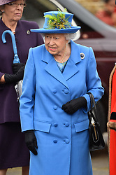 © Licensed to London News Pictures. 11/10/2019. London, UK. Queen Elizabeth II visits Haig Housing Trust to open a new its new development of 70 homes. The accommodation will house severely wounded or disabled veterans. Photo credit: Ray Tang/LNP