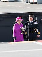 Queen Elizabeth II visits HMS Ocean in Plymouth