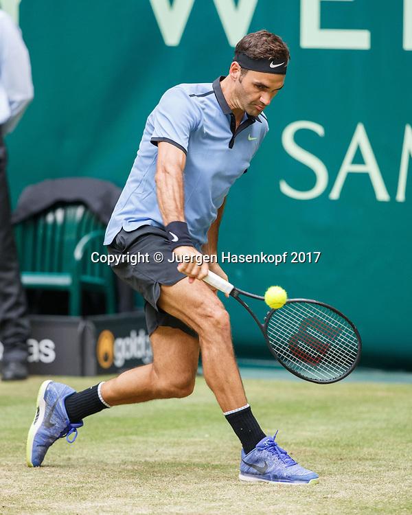 ROGER FEDERER (SUI)<br /> <br /> Tennis - Gerry Weber Open - ATP 500 -  Gerry Weber Stadion - Halle / Westf. - Nordrhein Westfalen - Germany  - 22 June 2017. <br /> &copy; Juergen Hasenkopf