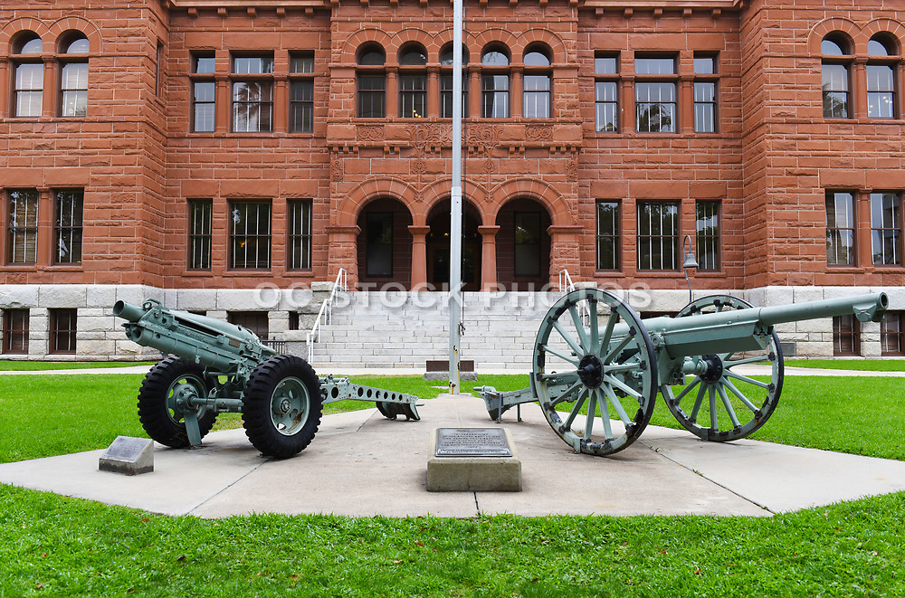 Cannons in Front of The Old Orange County Courthouse in Santa Ana's Historic Downtown District