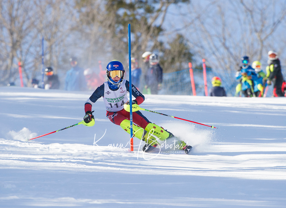 Paul Ladouceur Slalom men U12 first run.  ©2018 Karen Bobotas Photographer