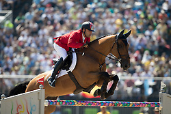 Karaevli Omer, TUR, Roso Au Crosnier<br /> owner of the horse of Jerome with arms in the air<br /> Olympic Games Rio 2016<br /> © Hippo Foto - Dirk Caremans<br /> 14/08/16