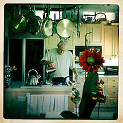 Photo by Matt Roth<br /> <br /> Grandpa Roth makes me some birthday breakfast.<br /> <br /> Centennial, Colorado on Tuesday, August 06, 2013