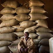 Worker Dusolimano Jean Bosco takes a break at Rwacof Cooperative. Photographed on Sunday, April 30, 2017.  (Joshua Trujillo, Starbucks)