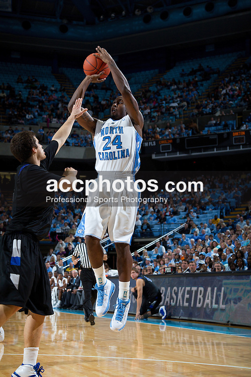 CHAPEL HILL, NC - NOVEMBER 05: Justin Watts #24 of the North Carolina Tar Heels while playing the Barton College Bulldogs at the Dean E. Smith Center on November 5, 2010 in Chapel Hill, North Carolina.  North Carolina defeated Barton College 108-67.