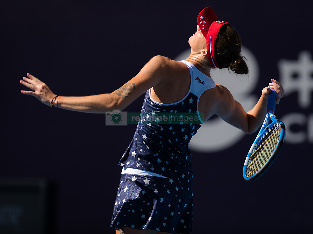 October 3, 2018 - Karolina Pliskova of the Czech Republic in action during her third-round match at the 2018 China Open WTA Premier Mandatory tennis tournament (Credit Image: © AFP7 via ZUMA Wire)