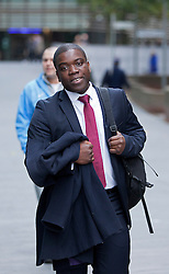 © Licensed to London News Pictures. 26/10/2012. LONDON, UK. Former UBS banker Kweku Adoboli leaves Southwark Crown Court in London today (26/10/12). Photo credit: Matt Cetti-Roberts/LNP