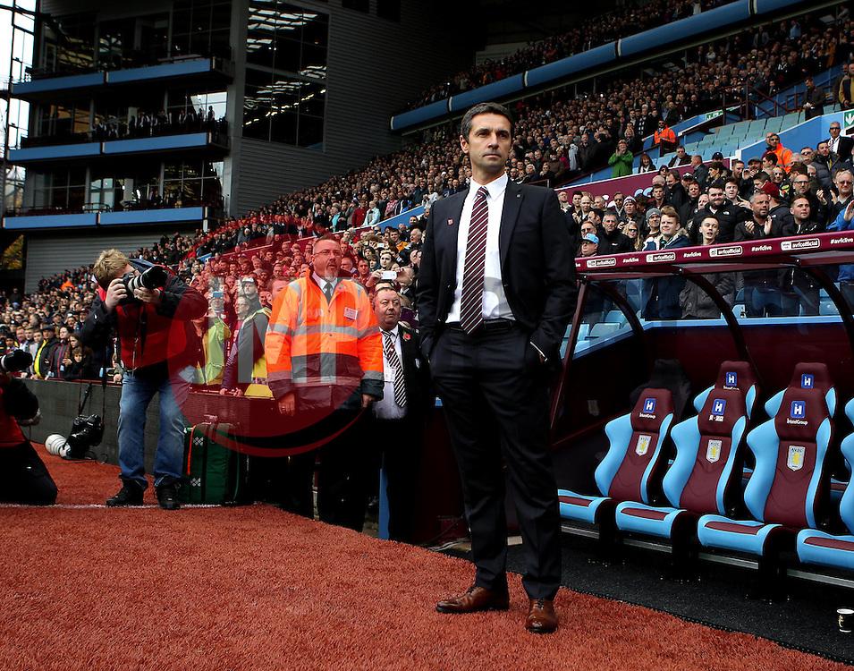 Aston Villa Manager Remi Garde - Mandatory byline: Robbie Stephenson/JMP - 07966 386802 - 08/11/2015 - FOOTBALL - Villa Park - Birmingham, England - Aston Villa v Manchester City - Barclays Premier League