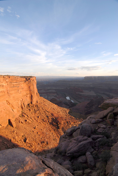 Viewpoint from the Dead horse state park into the Colorado river