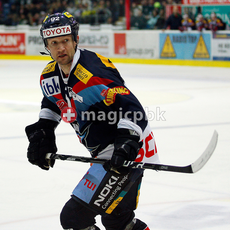 Kloten Flyers forward Michael Nylander is pictured during the ice hockey game of the Swiss National League A (Season 2011-2012) between Kloten Flyers and HC Davos (HCD) held at the Kolping Arena in Kloten, Switzerland, Saturday, Jan. 21, 2012. (Photo by Patrick B. Kraemer / MAGICPBK)