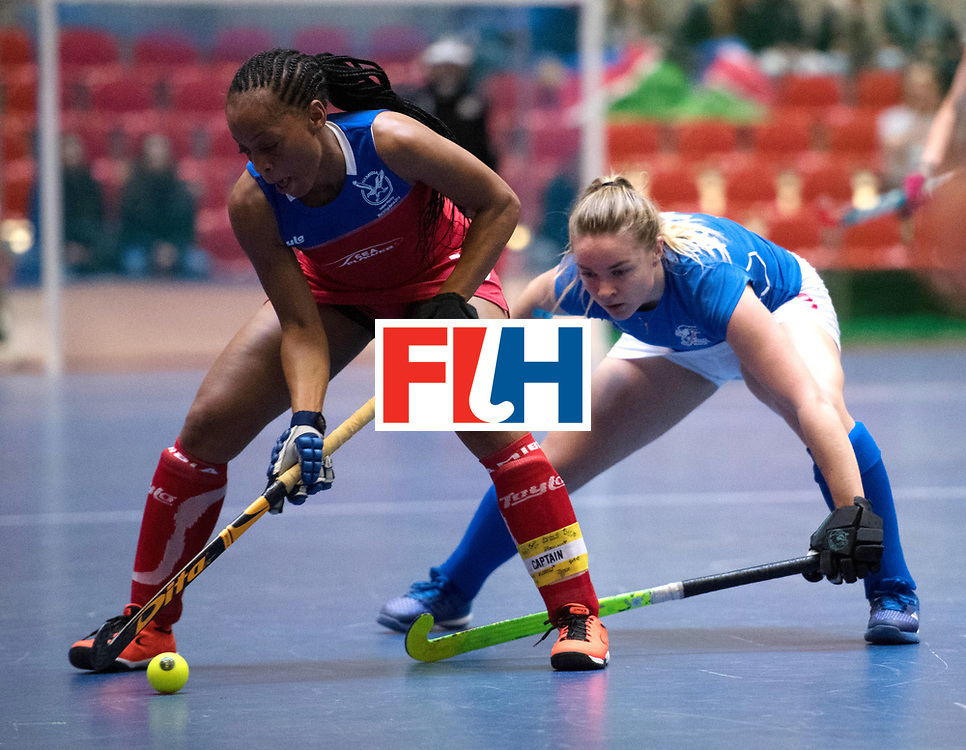BERLIN - Indoor Hockey World Cup<br /> Czech Republic - Namibia<br /> foto: MENGO Magreth (C)<br /> WORLDSPORTPICS COPYRIGHT FRANK UIJLENBROEK