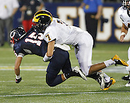 Belen Jesuit Football Vs. Columbus Explorers.  Game was played on Friday September 9, 2011.  Fiu's house (The Cage) was the venue.  Explorers defeated the Wolverines 31-21.