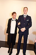 ELIZABETH VON GUTTMAN; PRINCE WILLIAM  WAXWORK, 'Engagement' exhibition of work by Jennifer Rubell. Stephen Friedman Gallery. London. 7 February 2011. -DO NOT ARCHIVE-© Copyright Photograph by Dafydd Jones. 248 Clapham Rd. London SW9 0PZ. Tel 0207 820 0771. www.dafjones.com.