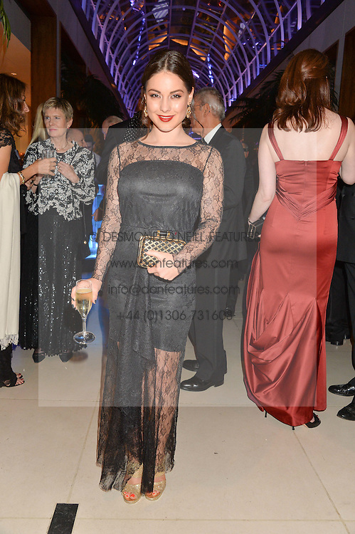 LOUISE THOMPSON at Steps To The Future -in aid of RAFT (Restoration of Appearance & Function Trust) and Walking With The Wounded held at The Hurlingham Club, London on 28th November 2014.