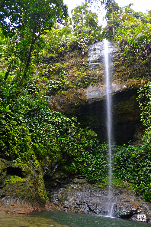 La Sierpe Waterfall, National Natural Park of Uramba,  Bahia Malaga, Colombian Pacific Coast