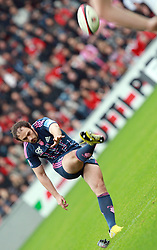 Julien Dupuy takes a penalty for Stade Francais. Stade Toulousain v Stade Francais, 9eme Journee, Top 14, Rugby, Stade Ernest Wallon, Toulouse, France, 29th October 2011.