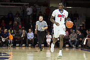 DALLAS, TX - DECEMBER 17: Shake Milton #1 of the SMU Mustangs brings the ball up court against the Hampton Pirates on December 17, 2015 at Moody Coliseum in Dallas, Texas.  (Photo by Cooper Neill/Getty Images) *** Local Caption *** Shake Milton