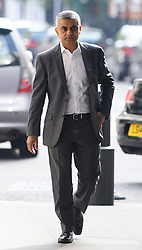 © Licensed to London News Pictures. 08/05/2016. London, UK. Mayor of London SADIQ KHAN arrives at BBC Broadcasting House in London to appear on the Andrew Marr Show. Khan was sworn in as the new Mayor yesterday in a ceremony at Southwark Cathedral. Photo credit: Ben Cawthra/LNP