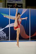 Giulia Moglianetti from Flaminio team during the Italian Rhythmic Gymnastics Championship in Padova, 25 November 2017.