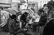 Occupy London protesters in Finsbury square