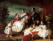 Queen Victoria, Prince Albert, and their children. Franz Xavier Winterhalter (died 1873), 1846. Oil on canvas,