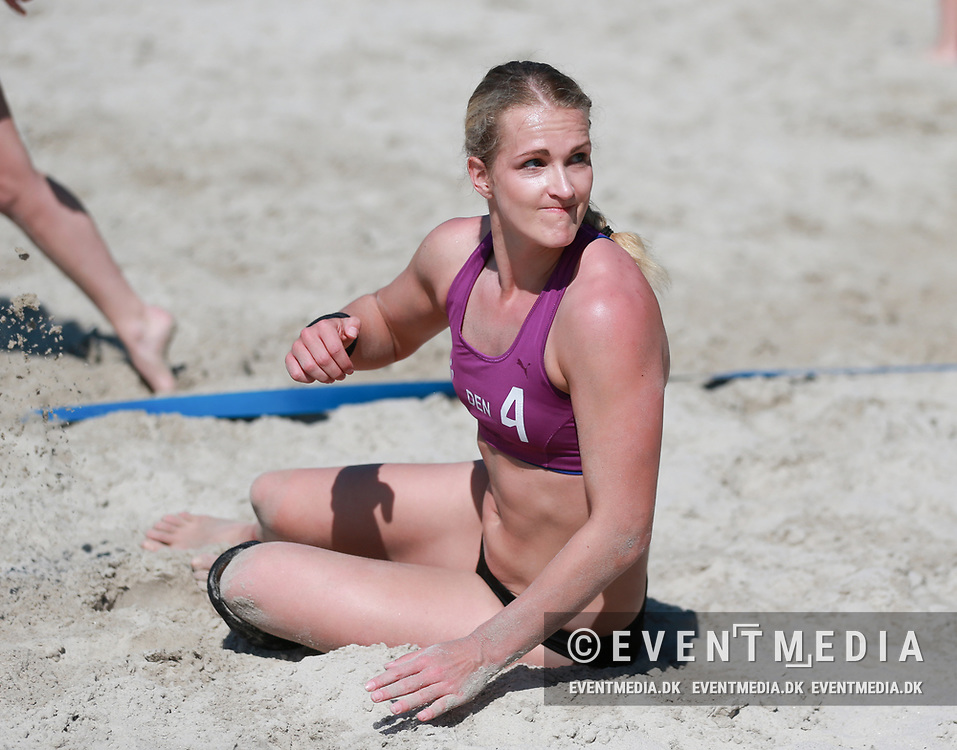 Beach handball: Test matches between Denmark and Norway at the FIF Beach Arena in Fjerritslev, Denmark. 19.05.2019. Photo Credit: Allan Jensen/EVENTMEDIA.