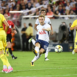 Christian Eriksen of Spurs during the International Champions Cup match between Paris Saint Germain and Tottenham Hotspur on July 22, 2017 in Orlando, United States. (Photo by Dave Winter/Icon Sport)